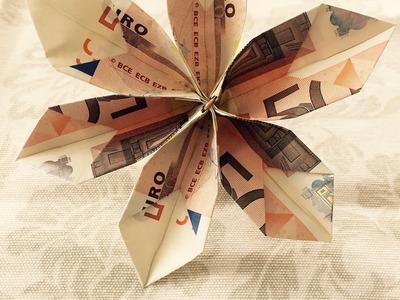 Geldblume falten - Blume aus Geld falten - Origami Geschenke