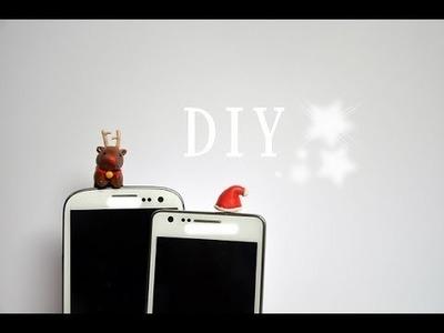 XMAS DIY: Phone Dust Plug - Clay - Handystöpsel [eng sub]