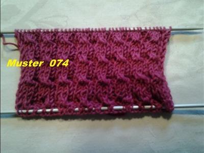 Bündchenmuster Muster 074*Stricken lernen* Muster für Pullover Strickjacke Mütze*Tutorial Handarbeit