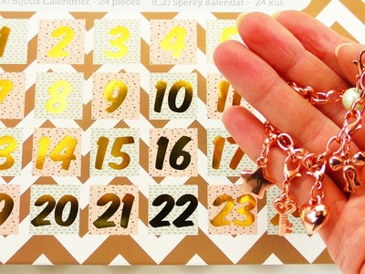 Schmuck ADVENTSKALENDER | Wir öffnen alle Türchen | Cooler Adventskalender | rosegold DIY Armbänder