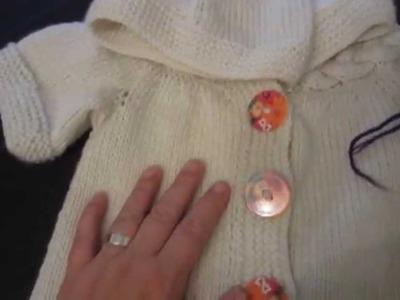 Erfahrungsbericht 1 Baby-Jacke mit verzopftem Kragen