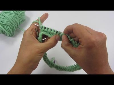 Stricken in Runden - Methoden - Western, Eastern und Combined Knitting