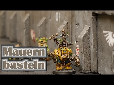 Festungs Mauern Bastel Tutorial aus Styrodur mit Heissdraht Schneider für Tabletop
