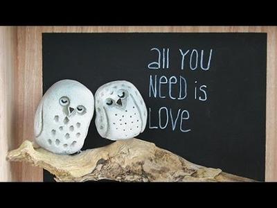 """DIY Beton zum Kneten Viva Decor , Eulenbild """"all you need is love"""""""