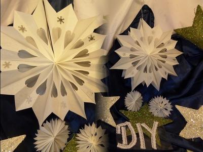 DIY by kekaplauderei: Weihnachts STERN aus Butterbrotpapiertüten BASTELN; VORLAGE+Anleitung