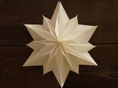 Einfache Sterne zu Weihnachten basteln. paper stars tutorial. DIY