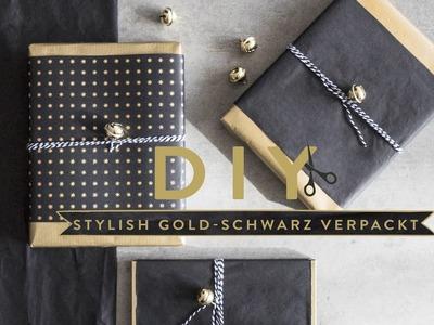 Weihnachtsgeschenke gold-schwarz | WESTWING DIY-Tipps