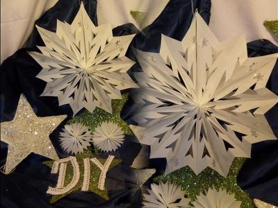 DIY by kekaplauderei BASTEL-TIPP: aus Butterbrotpapiertüten  Eisblumen STERN basteln