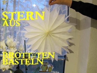 Brottüten-Stern basteln *SUPER LEICHT* DIY