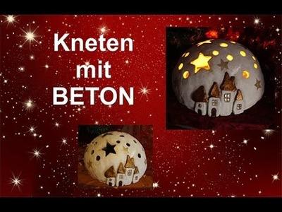 DIY: Ein schönes Geschenk zu Weihnachten aus Beton zum Kneten. Knetbeton