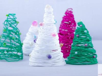 DIY Weihnachtsbäume aus Wolle  (einfach und schnell)