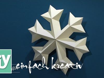 Eiskristall aus Papier | DIY einfach kreativ