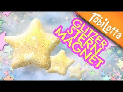 Glitzersterne Magnet DIY Adventskalender basteln 5 | Sterne basteln mit Glitzer - Tobilotta 67