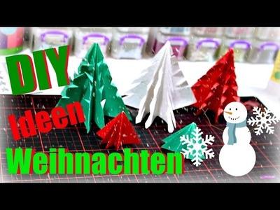 Weihnachten basteln | Tannenbaum basteln mit Papier | Weihnachtsdeko Ideen selber machen | DIY