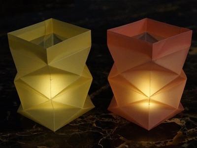 Basteln zu Weihnachten: Windlichter aus Papier falten - DIY