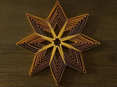 Sterne aus Papierstreifen zu Weihnachten basteln. DIY
