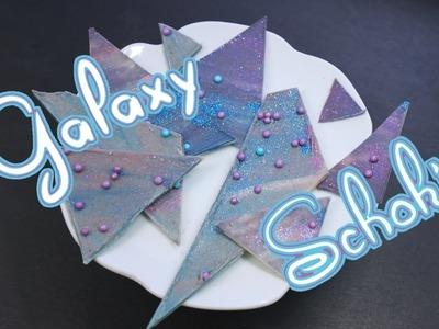 GALAXY SCHOKOLADE selber machen | als Tortendeko oder DIY Geschenkideen [Galaxy Chocolate]