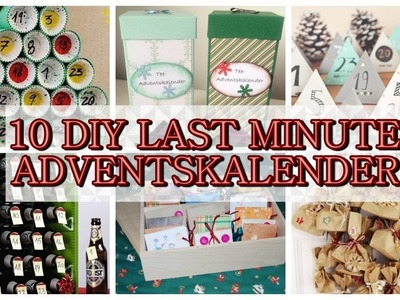 10 DIY LAST MINUTE ADVENTSKALENDER