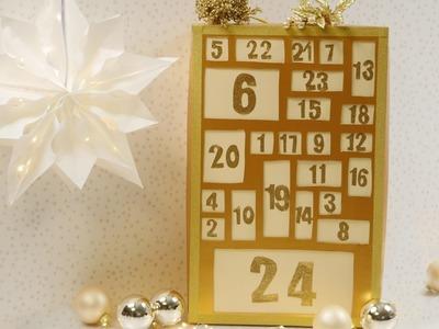 DIY Adventskalender aus einem Schuhkarton basteln