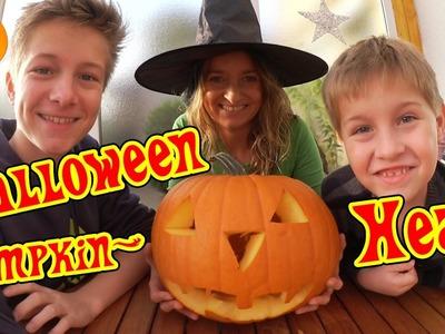 Halloween Kürbis basteln - Vorbereitung auf Halloween - Pumpkin Head DIY TipTapTube Vlog
