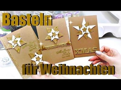 Basteln für Weihnachten | Weihnachtskarte basteln | DIY Tutorial deutsch | 9999 Dinge