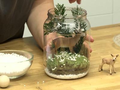 DIY: Weihnachtsdeko Winterlandschaft im Glas
