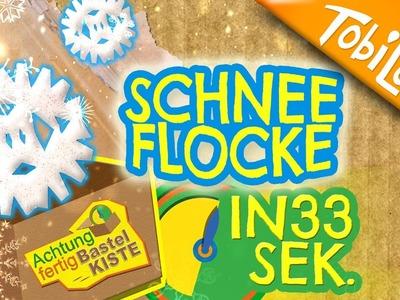Mini Schneeflocke basteln - Adventskalender 20 | Kinderfilme basteln DIY Deutsch - AFB 16