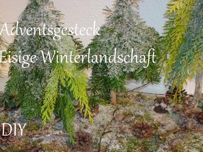 DIY | Adventsgesteck aus Naturmaterialien | Eisige Winterlandschaft | Just Deko