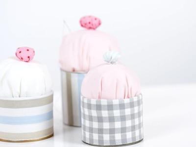 DIY - Nadelkissen in Cupcakes Form