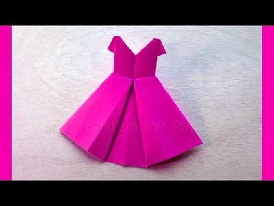 Origami Kleid - Basteln mit Papier - Origami Brautkleid - Kleidung falten - Basteln Ideen - DIY