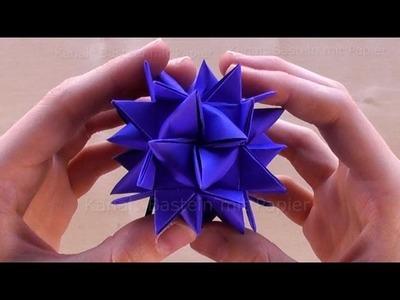 Fröbelsterne Anleitung: Großen Fröbelstern basteln Weihnachten - Weihnachtssterne basteln mit Papier