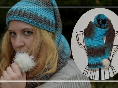 Mütze mit Schal häkeln,  #Zipfelmützenschal