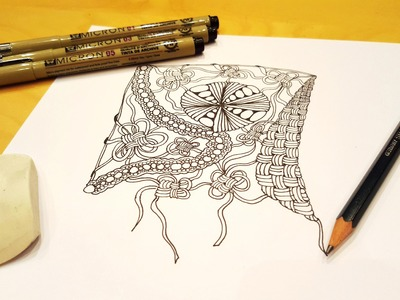 Wie malt man ein Zentangle? Tutorial Serie - Teil 1