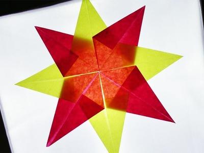Advents Stern Basteln | DIY Idee | Stern Falten & Kleben | Weihnachtsbasteln mit Kindern | Star