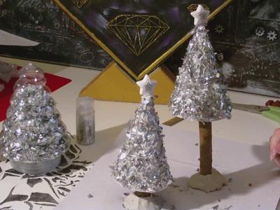 DIY - Weihnachtsbaum. Tanne im Silberlook - Vintage?
