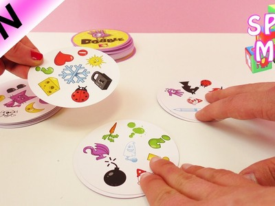 Dobble Spiel deutsch - Halli Galli Alternative für Gehirntraining mit Kathi, Kaan und Nina