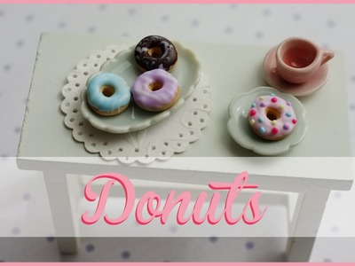 FIMO Tutorial | DONUTS mit Glasur | how to