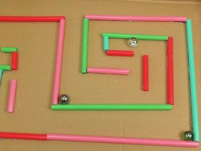 Kugel Labyrinth selber bauen! – Basteln und Spielen für Kinder – Einfache schöne Spielzeuge