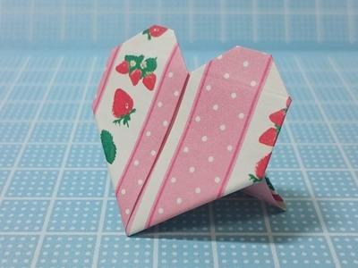 Leicht Origami Anleitung Herz! Erdbeermuster Ständer