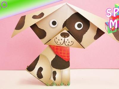 Niedlichen Hund mit Schlappohren falten | einfaches Origami für Kinder | Demo