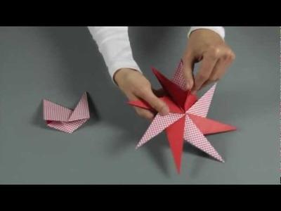 KreativPLUS Itzehoe Faltanleitung: Stern mit 8 Spitzen von Paolo Bascetta