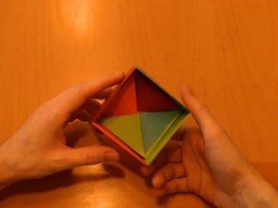 01 Origami: (d) Anleitung Geschenkebox, 4 Farbkiste Box