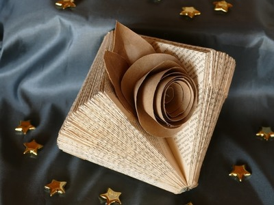 Deko basteln mit alten Buchseiten. Tinker deco of old book pages – einfach
