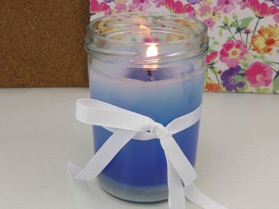 DIY Kerzen gießen   Kerze selber machen einfach - Zuhause als Geschenk
