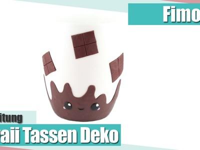 [Fimo Friday] Kawaii Tasse mit Fimo dekoriert - Kakao Tasse | Anielas Fimo