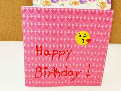 Geburtstagskarte mit Emoji | Happy Birthday Card mit Herz | Super süße Karte selber machen | DIY