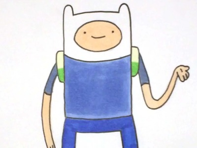 How to draw Finn [Adventure Time] drawing tutorial