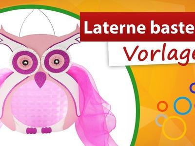 ★ Laterne basteln Vorlage ★ Eule für St. Martinsumzug - trendmarkt24