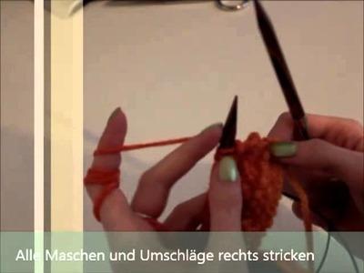 Rüschenschal stricken  Anleitung (DIY)