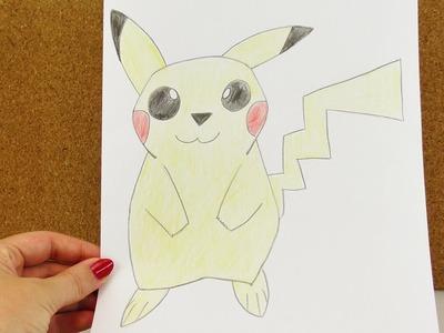 Wie zeichnet man Pikachu | süßes Elekro Pokemon zum Nachmalen | Anleitung zum Malen - How to draw